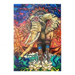 Bohemian Elephant Wooden Jigsaw Puzzle  7
