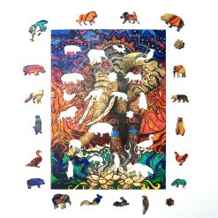 Bohemian Elephant Wooden Jigsaw Puzzle  2