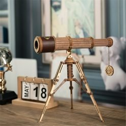 DIY 314pcs Telescopic Monocular Telescope Wooden Model Building Kits Assembly Toy Gift for Children Adult 8