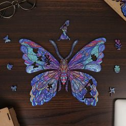 Butterfly Wooden Puzzle Animals Puzzle Toy High difficulty Unique Irregular Shape Jigsaw Puzzle For Adults Kids Fidget Toys gift 1