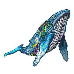 Free Whale Wooden Puzzles For Adults Kids Interactive Educational Games DIY Gifts 9