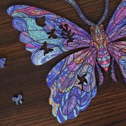 Butterfly Wooden Puzzle Animals Puzzle Toy High difficulty Unique Irregular Shape Jigsaw Puzzle For Adults Kids Fidget Toys gift 2