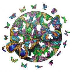 Beautiful Butterfly Wooden Puzzle For Adults Children Educational Toys Family Puzzle Games Gifts  DIY Crafts 3